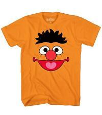 Sesame Street Ernie Face Tee Funny Humor Bert Tee Adult Men's Graphic T-Shirt