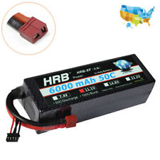 HRB 11.1V 3S 6000mAh 50C 100C Hard Case LiPo Battery for RC Truck Car Helicopter