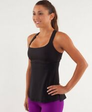 Lululemon Black Luxtreme Speed Tank Top with Built in Bra Size 4