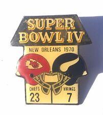 Vintage Kansas City Chiefs Super Bowl IV Coke Starline Pin Minnesota Vikings L11