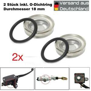 2 x SCHAUGLAS Ø18 mm Bremsflüssigkeitsbehälter Reparaturkit Roller Motorrad Quad
