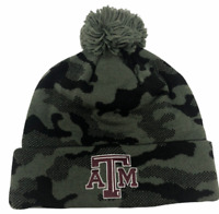 Texas A&M Aggies Adidas Gray Camo Winter Beanie Hat Stitched Logo NWT