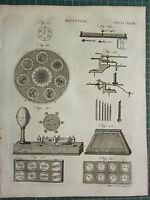 1797 Originale Antico Stampa ~ Magnetismo Vari Equipment Apparato Esperimenti