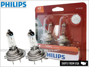 NEW! PHILIPS X-treme Vision H7 Halogen Replacement bulbs PAIR 12V 55W 12972XVB2