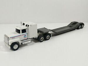 Ertl Ford Semi Truck Lowboy Trailer Diecast - No Box - 1:64 Scale