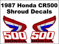 Tank decals for 1987 Honda CR500r Dirtbike    CR500 CR 500 500r