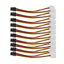 10x 4 Pin Molex to 6 Pin PCI-E Power Adapter Connector cable For video card 15cm