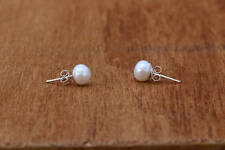 Freshwater Pearl Earrings Sterling Silver New Jewelry Studs Shipping Included