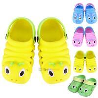 Baby Kids Girl Boy Toddler Cartoon Sandals Beach Shoes Slippers Caterpillar 1-6Y