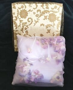 NWT Beverly Clark Wedding Ringbearer Ring Pillow  Lilac & White Petals Satin