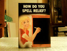 HOW DO YOU SPELL RELIEF? VINTAGE ILLUSTRATED NOVELTY IN ORIGINAL BOX - 1983