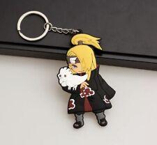Naruto Deidara Akatsuki Keychain Rubber Double Sided 2.5� Anime Us Seller