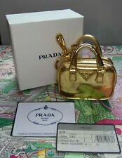 Prada Trick Gold Mini HAND BAG Key Ring / Chain -  RARE - Genuine