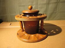 Vintage Pipe Stand & Humidor Dun-Rite Amber Duraglas