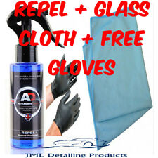 AUTOBRITE DIRECT 100ML REPEL RAIN REPELLENT WINDSCREEN GLASS SEALANT+CLOTH+GLOVE