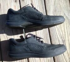 ECCO Lace Up Comfort Shoes Mens 10 10 1/2 Eur 44 Soft Leather Walkers BLACK