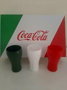 Coca Cola Set 3 Bicchieri In Vetro Europei 2020