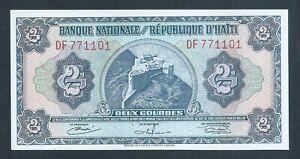 HAITI 2 Gourdes P191 L.1919 TDLR printing original Unc
