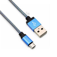 0.2/1/2/3M Braided Rope Aluminum USB A to USB 2.0 B Data Sync Charger Cable Cord
