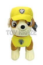 "PAW PATROL PLUSH! RUBBLE YELLOW X LARGE DOG PUPPY BULLDOG SOFT DOLLS 13"" NEW"