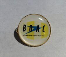 B.O.A.C.  Retro Gold Plated Badge & BOAC  Cell Sticker