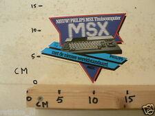 STICKER,DECAL PHILIPS MSX THUISCOMPUTER WERELDSTANDAARD NOT 100 % OK