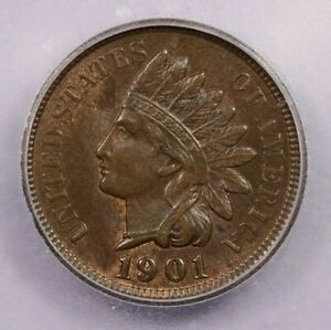 1901-P 1901 Indian Head Cent ICG MS65 BN