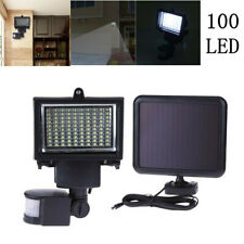 100 LED Bright Solar Powered PIR Sensor Flood Security Light Wall Outdoor  ❤