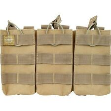 Valken Paintball Airsoft MOLLE AR Triple Mag Magazine Vest Pouch Black Olive Tan