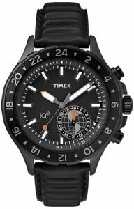 Timex - Move Multi-Time TW2R39900, IQ+ STEEL 316 L Black analog quartz Watch