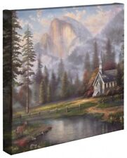 Thomas Kinkade Studios Valley Chapel 14 x 14 Gallery Wrap Canvas