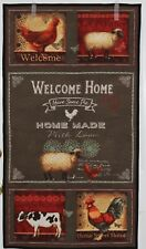 Welcome Home Wallhanging Quilt Roosters Cow Sheep Home Sweet Home