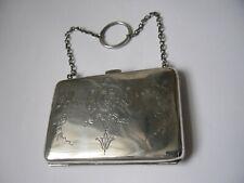 More details for antique edwardian sterling silver purse, birmingham 1909