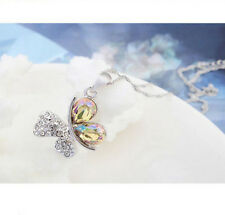New Cute Butterfly white AB Crystal Pendant Necklace Fashion Jewelry for Women