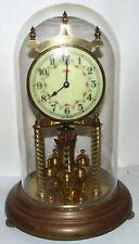 Kundo Kieninger Obergfell 400 Day Mechanical Brass Clock for Parts, Glass Dome