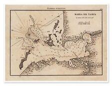 "Bahia de Tampa Map LARGE Elegant Chart of TAMPA BAY Florida circa 1809 - 18""x24"""
