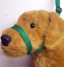 Figure of eight Airweb cushion  dog halter headcollar & Lead in 1 Emerald Green