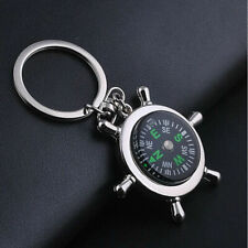 Keychain Key Chain Ring Keyfob Unisex Fashion Compass Metal Car Keyring