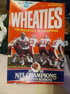 Washington Redskins Super Bowl NFL Champions 1988 Wheaties Cereal Box