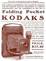 ADVERT VINTAGE CAMERA POCKET EASTMAN ROCHESTER NEW YORK USA POSTER PRINT LV307