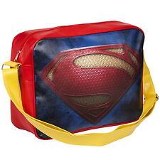 Nouveau Officiel DC COMICS Superman Logo Kids Deluxe Besace École Sac Bandoulière