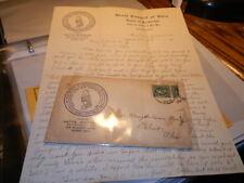 #6250,Degree of Pocahontas,Salem OH 1914,Letter & Cover