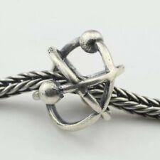 Atomic 925 Sterling Silver Charm Bracelet Gift Troll Bead Science Atom