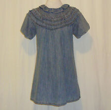 "BEAUTIFUL SASS&BIDE FADE BLUE DENIM DRESS AUS 10,US 6 ""THE TRAVELLING SHOW"""