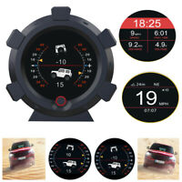 GPS Speedometer Slope Meter HUD Gauge Speed&Altitude Electronic Compass 5-28V