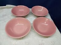 Montgomery Ward Color Connection Stoneware Pink Set/4 Soup/Cereal Bowls Japan