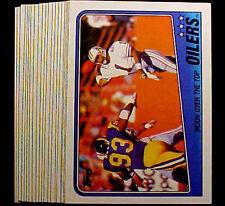 1988 Topps WARREN MOON ~ 50 CARD LOT ~ HOF HOUSTON OILER STAR QB