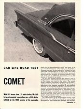 1961 MERCURY COMET 170/101 HP ~ ORIGINAL 5-PAGE ROAD TEST / ARTICLE / AD