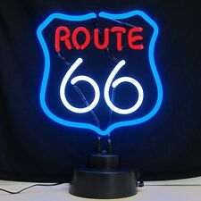 Historic Route RT 66 neon sculpture sign Table shelf lamp hand blown glass