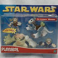 Playskool The Stompin' Wampa Star Wars Jedi Force Figure Set 2002 NIB